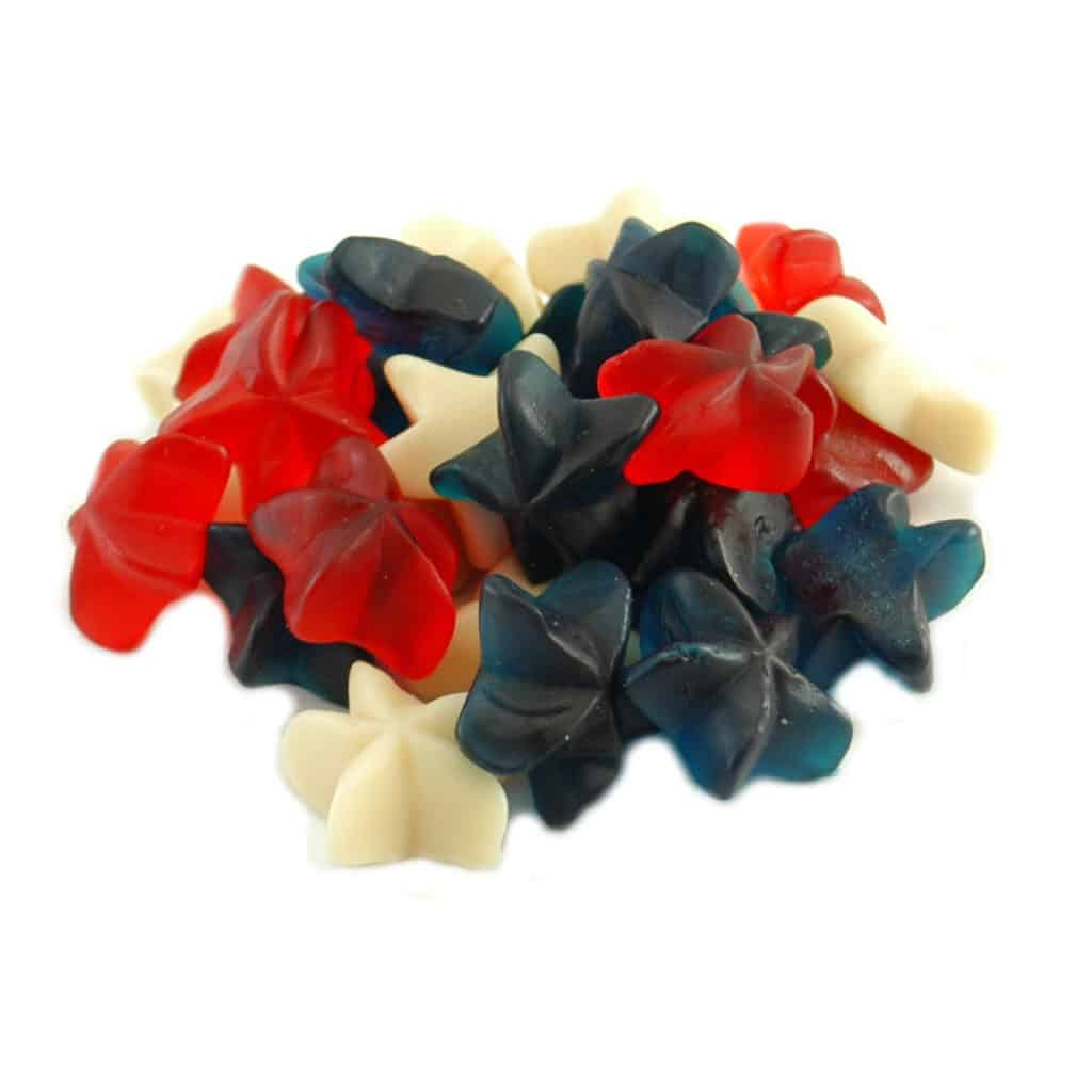 Gummy Patriotic Star (Red, White & Blue)